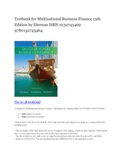 Testbank-for-Multinational-Business-Finance-13th-Edition-by-Eiteman-ISBN-0132743469-9780132743464