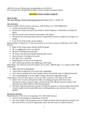 Exam III Study Guide fall 2012 REVISED