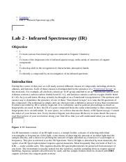 Lab 2 - Infrared Spectroscopy (IR).html