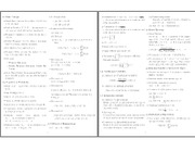 Exam 1 cheat sheet