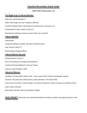Industrial_Revolution_Study_Guide