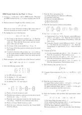 Final Exam Study Guide Spring 2009 on Engineering Mathematics III (Numerical Methods)