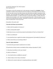 Law 209 Fall Essay Two 20 Short Answers.docx