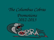 The Columbus Cobras Promotions
