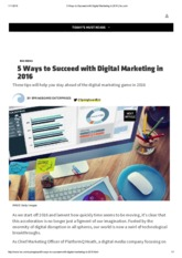 5 Ways to Succeed with Digital Marketing in 2016 _ Inc