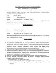 Surat Perjanjian Pengadaan Catering Surat Perjanjian Pengadaan Katering Nomor 001 Sppk Pt Ap Pt Fr Ix 2015 Pada Hari Ini Kamis Tanggal Tujuh Belas Course Hero