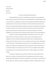 Formal Essay_Electoral College