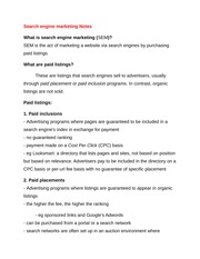 Search engine marketing Notes
