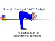 Strategic planning and SWOT Powerpoint
