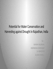 !!Potential for Water Conservation and Harvesting against Drought.pptx