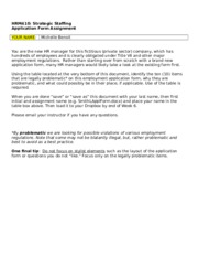 HRM410-Week 6 Benoit M Employment Application Form