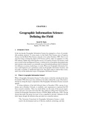 Article About the Definition of GIScience