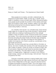 ped  health and fitness essay  ped the healthastheysay  ped  health and fitness essay  ped the healthastheysayiswealthgood