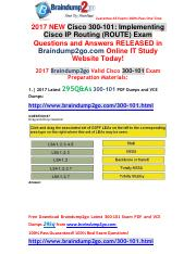 [2017-May]Braindump2go New 300-101 VCE Dumps 295Q&As Free Share(87-97).pdf