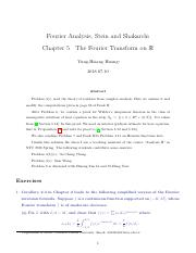 Stein Shakarchi Complex Analysis Solution Chapter 4 The Fourier