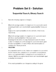 Data Structures Problem Set 5