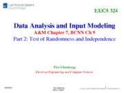 05-2 Data Analysis and Input Modeling(1)