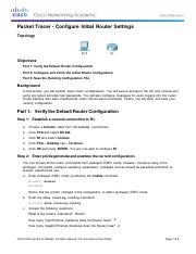 6.4.1.3 Packet Tracer - Configure Initial Router Settingscomplete.pdf