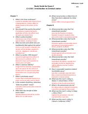 Study Guide for Exam 2 (Answers)