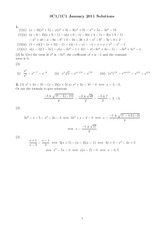 MATH 0C1 Spring 2011 Final Exam Solutions