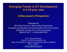 Emerging Trends in ICT Development - A 5-10 year view (A Discussant-s Perspective).pdf