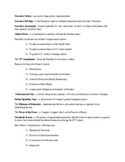 PoliSci Test 4 Study Guide