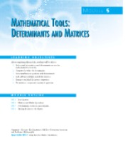 Determinant and Matrix