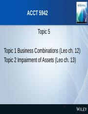 ACCT5942_S1_2016_Lecture 4 Business Combinations and Impairment.pptx