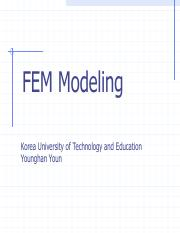 6 FEM Modeling and Solving the linear equation