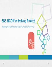 Inha SNS NGO Fundraising Project_Final