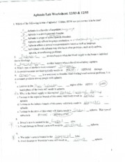 ashasia lab worksheet
