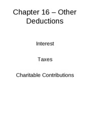 Chapter 16 - Other Deductions