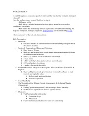 WGS 221-March 26 Class notes