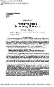 PRINCIPLES -RULES ACC. STANDARDS