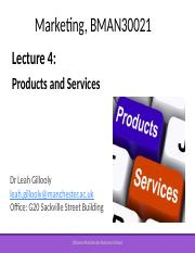 Marketing Lecture 4- Products and Services - student version - Oct 2017.pptx