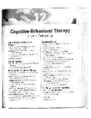308 Cognitive Therapy