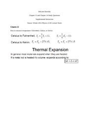 Study Guide PHYSICS 2130 Chapter 13 and Chapter 14