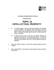 BUS015_2014_TOPIC 12_IntellectualProperty