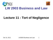 LW2903 Business Law 11(1)
