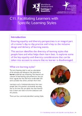 Facilitating Learners with Specific Learning Styles (English)