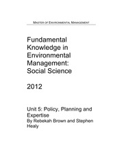 FKSS Unit 5 Policy, Planning & Expertise 2012(1)