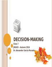 Class 7 - Decision-Making.pptx