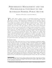 ODonnell & Shields 2002 - Performance management and the psychological contract in the Australian Fe