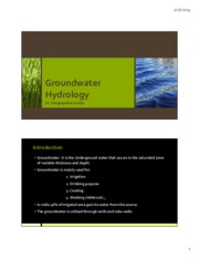 Groundwater Hydrology_Part 1