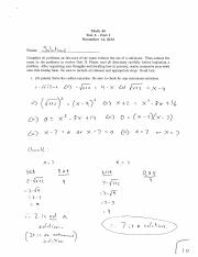 Test 5 Solutions.1