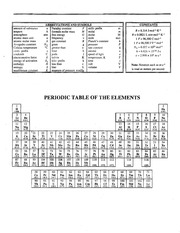 Periodic Table and Constants for Final Exam-1