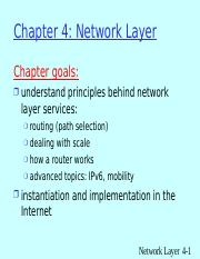 UNIT - III - Network layer