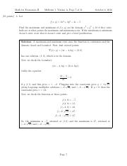 Optimization problem from midterm 1