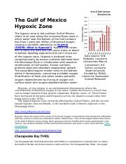 The Gulf of Mexico Hypoxic Zone