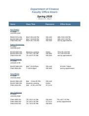 FINA Faculty Office Hours Spring 2015.doc